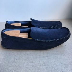 Ted Baker Men US 13 EU 46 Blue Leather Loafers